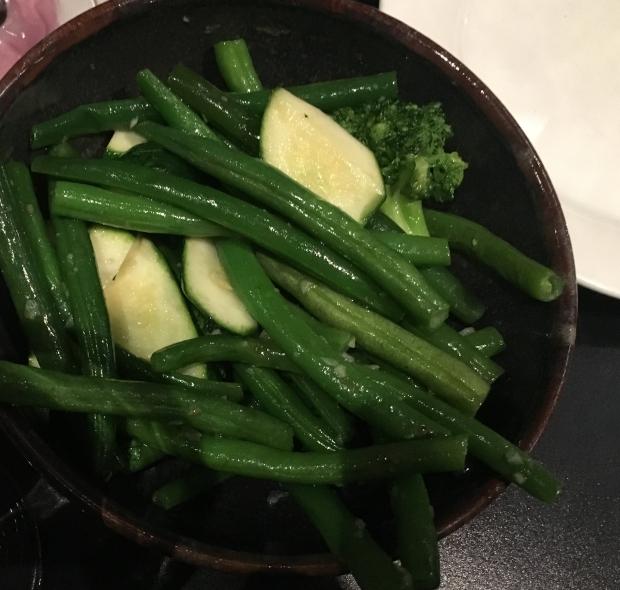 saueted greens